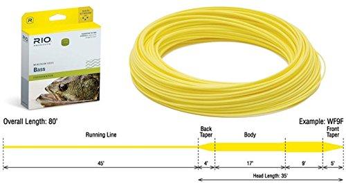 Rio Fly Fishing Mainstream BASS/Pike/PANFISH WF8F Yellow W/Leader