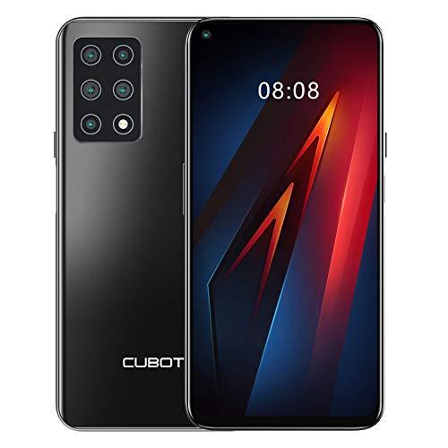 CUBOT X30 Smartphone ohne Vertrag, 4G Handy, 6GB RAM+128GB ROM, 6.4 Zoll HD+ Display, 4200mAh Akku, Android 10.0, fünf Kameras, Dual SIM, NFC, Face ID, Global Version, Schwarz