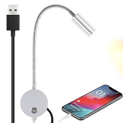 Cargador USB: esta lámpara de pared viene con un conector de carga de 5 V/2 A, la base del soporte de la lámpara, simplemente carga tus dispositivos móviles como teléfonos móviles, Kindle, tabletas, cuando trabajas o lees el tiempo de sueño. Se recom...