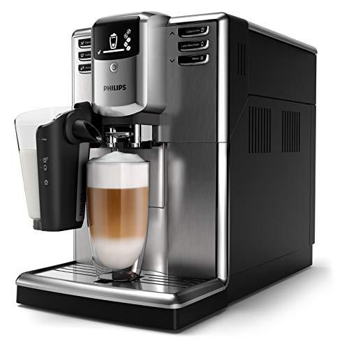 Philips Serie 5000 EP5335/10 Cafetera Súper, 6 Bebidas de Café, Jarra de Leche Latte Go Muy Facil de Limpiar, Limpieza Automatica, Molinillo Ceramico, Acero Inoxidable