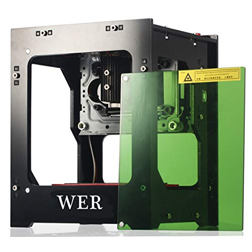 WER Laser Engraver Printer, Upgrated Version 1500mW Portable Household Art Craft DIY Mini...