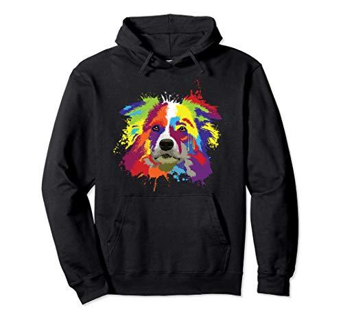 Splash Art Border Collie Dueño De Un Perro Regalo Perros Sudadera con Capucha