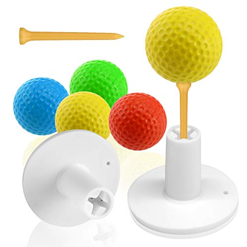 Aliennana Golf Rubber Tee Holder Set for Practice and Driving Range Mats with Golf Tees for Indoor Outdoor Size 1.5' 2' (1.5' 2sets)