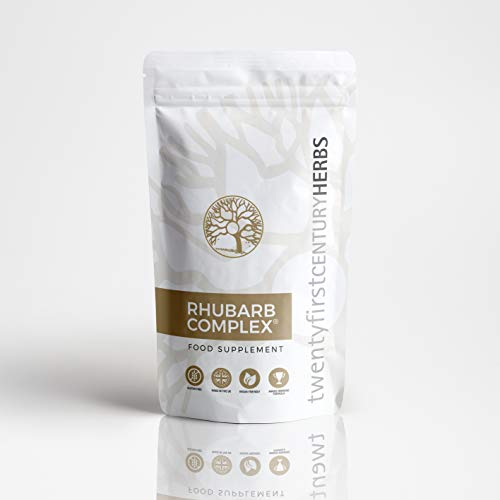 Rhubarb Complex  60 Capsule Eco Pouch - Award Winning Formula - All Natural Detox - Reduce Bloating - Lose Weight - Colon Cleanse - Liver Detox