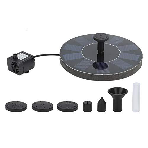 Topincn Fontein op zonne-energie, 5 V, 1,6 W, automatische werking voor outdoor-decoratie