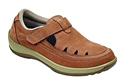 Orthofeet Serene Tan Women's T-strap Shoes