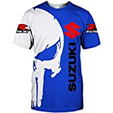 Martin Hoodies,Chaquetas,Camiseta Su-Zuki Punisher 3D Completo Impresión Delgado Hombre Y Mujer Casual Poliéster Sweatshirt Clásico / C1 / XXXL