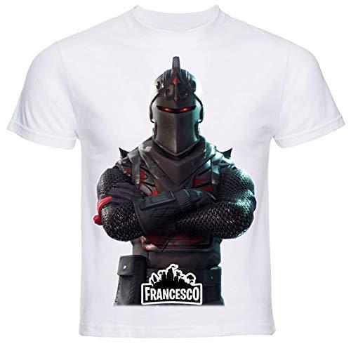 T-Shirt con Stampa Personalizzata. Scegli L'Immagine Che preferisci e personalizzala ►Gratis◄ con Il Nome Che Vuoi (11/12 Anni, Nero)