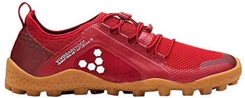Vivobarefoot Womens Primus Trail Soft Ground Mesh Red Gum Trainers 7 US