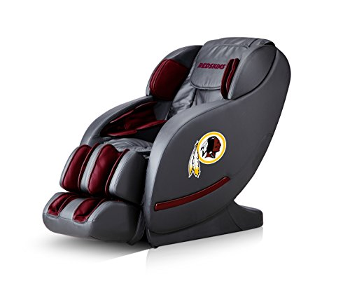 Affordable NFL Electric Full Body Shiatsu Massage Chair Foot Roller Zero Gravity Wheat (Washington R...
