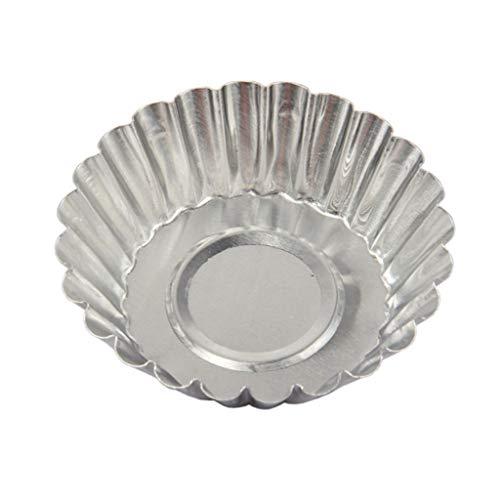 Molde desmontable de aluminio para cupcakes, molde de molde de molde de molde para tartas, 100 / 150 unidades