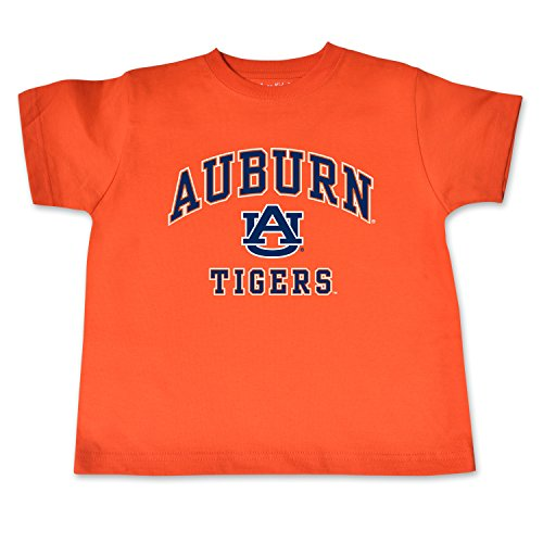 NCAA Auburn Tigers Toddler Short Sleeve Tee, 3 Toddler, Orange