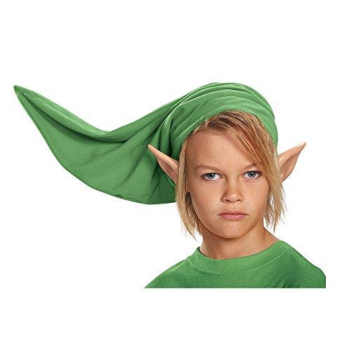 KULTFAKTOR GmbH Link-Mütze und Ohren für Kinder Legend of Zelda-Kostümzubehör 2-teilig grün-hautfarben Einheitsgröße