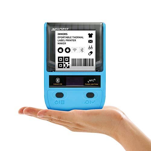 Etichettatrice - Stampante per etichette termica portatile Bluetooth per abbigliamento, gioielli, vendita al dettaglio, corrispondenza, codici a barre, compatibile con sistema Android e iOS