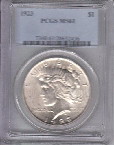 1923 Peace Dollar PCGS MS61