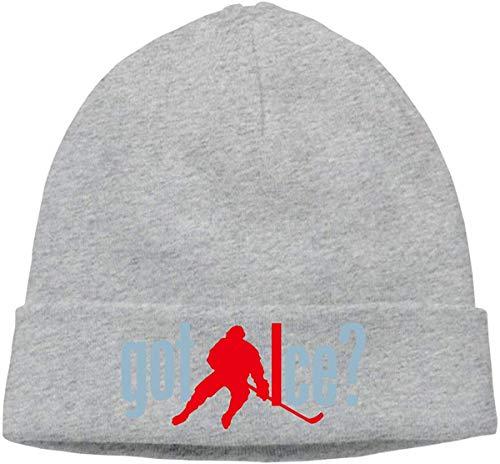 wenxiupin Dicke Strickmütze für Unisex, Hockey Got Ice Funny Uhr Cap Retro 28206
