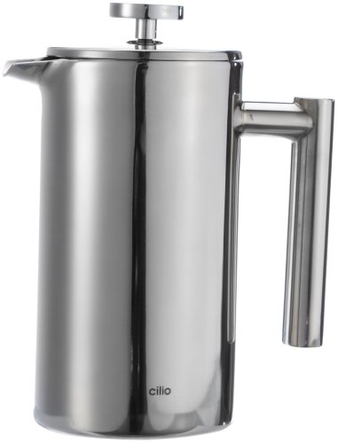 Cilio Espressokocher, 18/8 Edelstahl, 12.8 x 13.2 x 20.4 cm