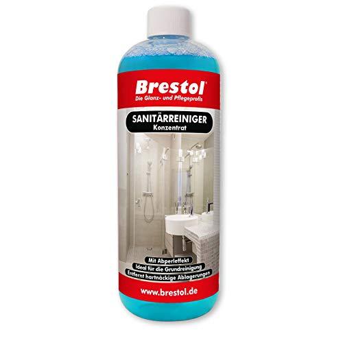 Sanitärreiniger 1000 ml Konzentrat - mit Abperleffekt Abperl-Effekt Grundreinigung Kalklöser Badreiniger Fliesenreiniger Duschkabinenreiniger Kalkentferner WC-Reiniger
