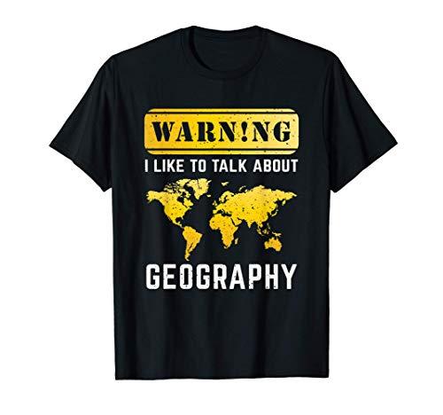 Regalo per l'insegnante di geografia Maglietta