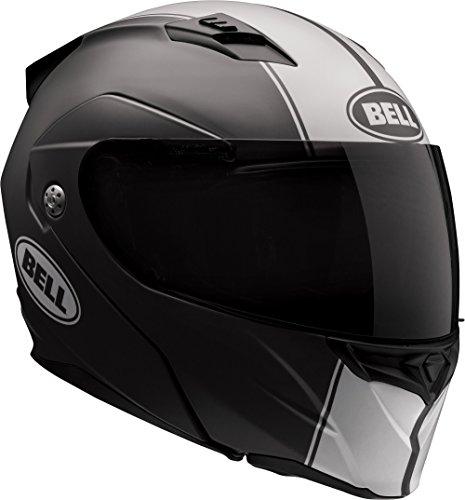 Bell Revolver EVO Adult Street Motorcycle Helmet - Matte Black/White Rally/Large