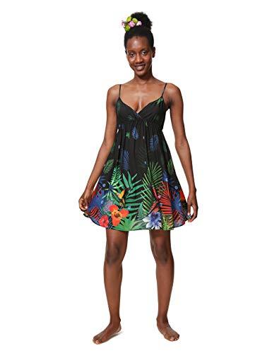 Desigual Damen Dress Swimwear SIA Woman Black Kleid, Schwarz (Negro 2000), Medium