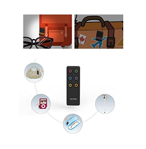 Aosnowキーファインダー探し物発見器Keyfinder忘れ物防止紛失防止落し物防止受信機6個セットペアリング不要&操作簡単