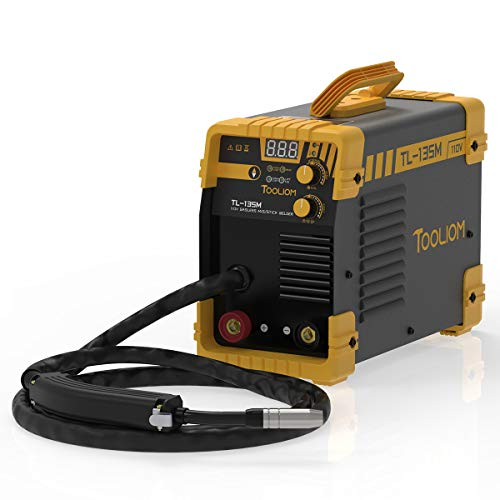 TOOLIOM 135A MIG Welder 110V Flux MIG/Lift TIG/Stick 3-in-1 Weding Machine IGBT DC Inverter