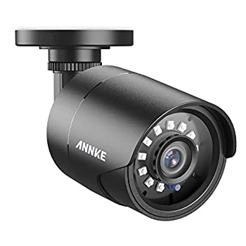 ANNKE 1080p Security Camera 4-in-1 CCTV Bullet Wired Camera AHD/TVI/CVI/CVBS IP66 Weatherproof Analog Surveillance Video Add–On Camera for Indoor and Outdoor Use 100 ft Clear Night Vision - E200