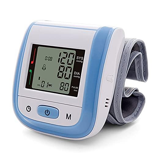 Soglen Tensiómetro de Brazo Digital Tensiómetro Aparato para medir la Tension Arterial Brazo Pantalla de arritmia para una medición precisa de la tensión Arterial y del Pulso,Azul