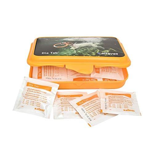 alfavet Dia Tab® Diät-Ergänzungsfuttermittel für Hunde und Katzen 20 Kautabletten à 5,5 g in Dose für Reiseapotheke