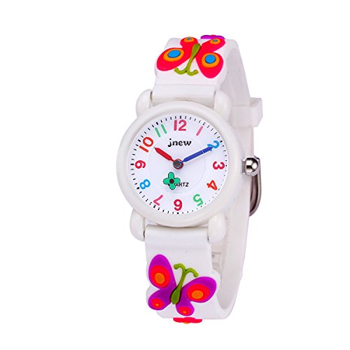 Sun-Team Kids Gift Toys for 3-8 Year Old Girls, Girls Watch Toys for 4-10 Year Old Boys Girls Age 4-10 Present Birthday(White