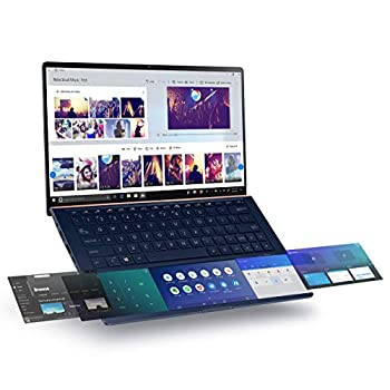"Asus ZenBook 13 Ultra-Slim Laptop 13.3"" Full HD NanoEdge Bezel Intel Core i7-10510U 16GB RAM 512GB PCIe SSD Innovative Screenpad 2.0 Windows 10 Pro - UX334FLC-AH79 Royal Blue  Renewed"