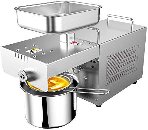 Kacsoo Máquina de prensa de aceite 750W Acero inoxidable 304 Prensa de Aceite...