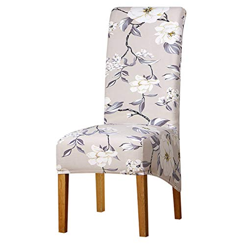 BECCYYLY Dining Chair Covers 1Pcs XL Size Chair Cover Elastic Chair Covers Stretch Seat High Back King Long Back for Banquet Home