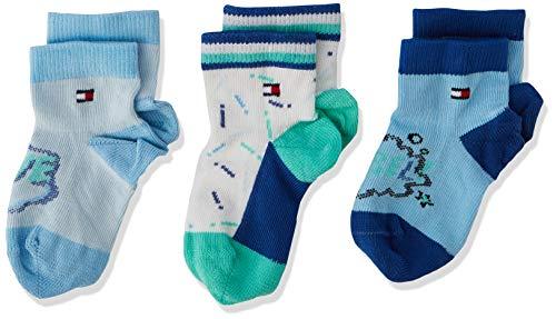 Tommy Hilfiger Sokken voor babys, jongens, 3 stuks - blauw - Taille Unique