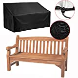 "Silvotek 2 Seater Garden Bench Cover – Waterproof Outdoor Bench Cover with Durable 210D Oxford Material+ Extra PVC Coating, Patio Bench Cover - 53"" L x 26"" W x 35"" H"
