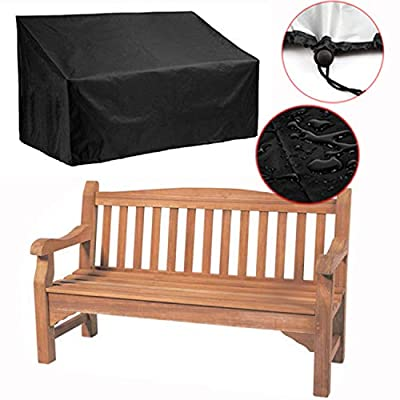 """Silvotek 2 Seater Garden Bench Cover – Waterproof Outdoor Bench Cover with Durable 210D Oxford Material+ Extra PVC Coating, Patio Bench Cover - 53"""" L x 26"""" W x 35"""" H"""