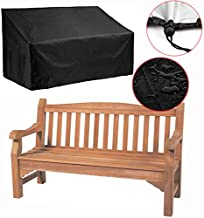 Silvotek 2 Seater Garden Bench Cover – Waterproof Outdoor Bench Cover with Durable 210D Oxford Material+ Extra PVC Coating, Patio Bench Cover - 53