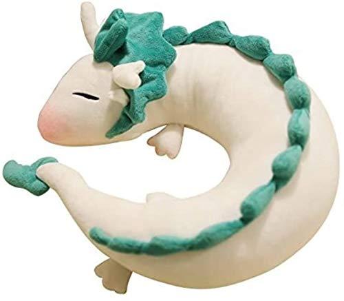 U-vorm kussen Cute Little Dragon nekkussen Japanse animatie Chihiro White Kleur: Rood (Color : Rouge)