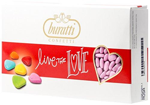 Buratti Confetti Cuoriandoli Rosa - 1 kg
