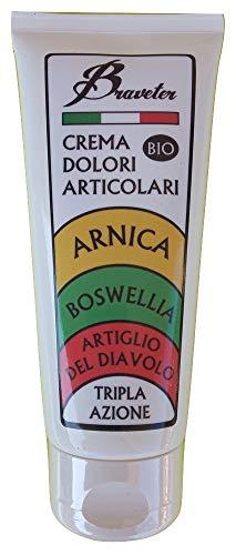 Braveter Arnica Gel Forte Artiglio Del Diavolo Crema Boswellia Pomata 100% Italiana BIO Per Massaggi Dolori Muscolari Articolari Per Cavalli Uso Umano
