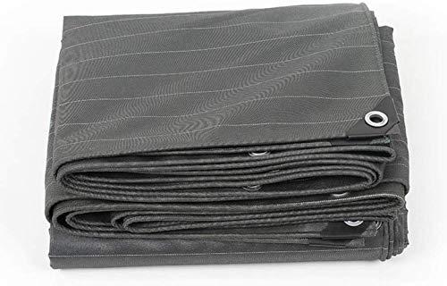 YYF Étanche à la poussière Bâche Grand, Noir résistant à l'usure imperméable Forte Noor Bâche Bâche for Camping Bois Anti-oxydation (Color : Black, Size : 4X5M)