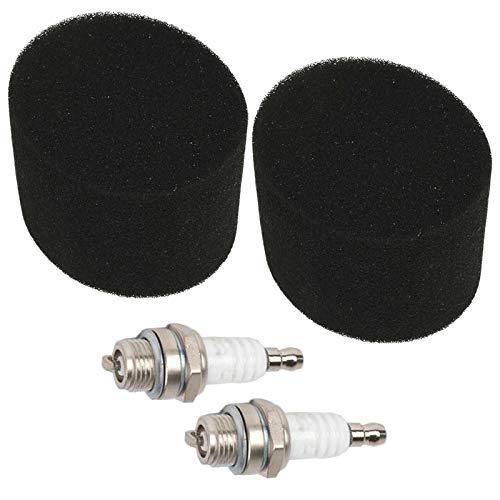 SPARES2GO Air Filters+ Spark Plugs Kit voor Qualcast grasmaaier (2 van elk)