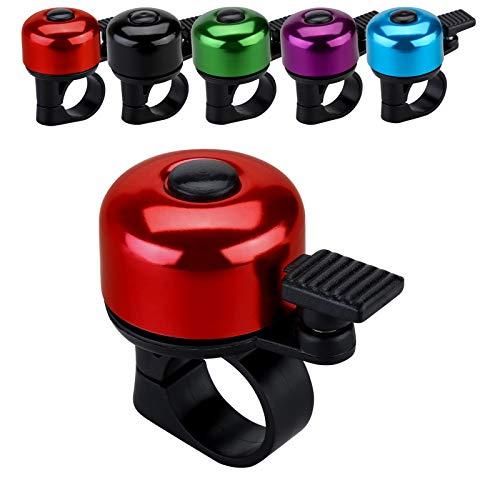 JFmall Fahrradklingel mit lautem, klarem Klang, Rennrad- und Mountainbikeklingel für Erwachsene und Kinder (8 Farben), Rot (Stil 1).