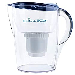 Epic Pure Water Filter Pitcher | Blue | 3.5L | 150 Gallon Filter | 100% BPA-Free | Removes Fluoride, Lead, Chromium 6, PFOS PFOA, Heavy Metals, Pesticides, Chemicals, Industrial Pollutants & More