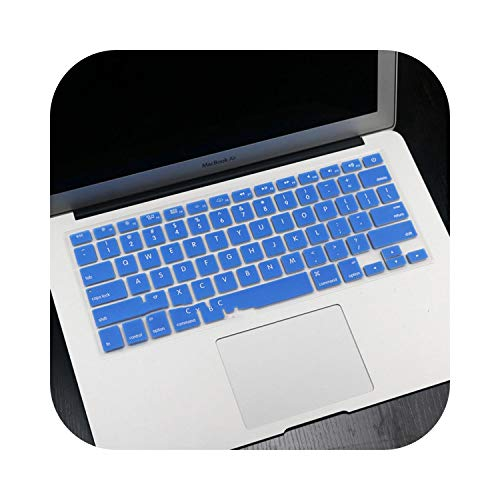 English US Enter Silicone Keyboard Cover Protector Skin Case for MacBook Air 13 Laptop 2017 2016 2015 2014 2013 A1466-Dark Blue-