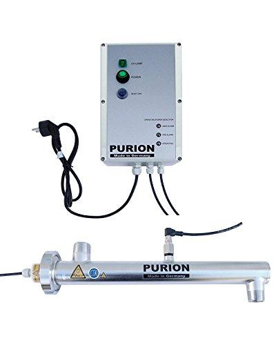 PURION 1000 Sistema de desinfección UV-C de Corriente Continua de 24 V hasta 1.000 l/h con Control de sensores