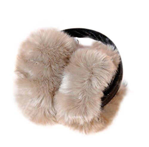 Lumanuby 1 Stuck warm Ohrenschützer aus Polyester Plüsch Earmuffs Faltbar für Damen Mädchen Eine Größe passt meistens (Khaki)