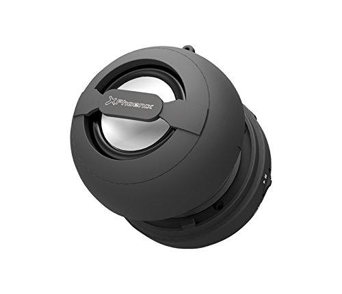 Phoenix Technologies Mini Boom Bluetooth Negro - Altavoces portátiles (Inalámbrico y alámbrico, 10 m, Mini-USB, Negro, Esférico, Digital)