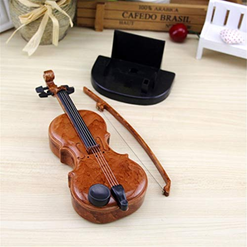 NICE\' living hall Sala de Estar Agradable\' Caja de música de violín Dibujada a Mano Regalo de cumpleaños de Caja de música Mini Lindo Creativo (Style : Grand Piano)